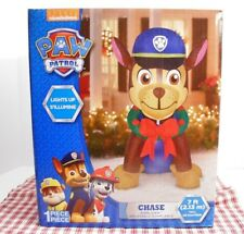 NIB PAW PATROL Big 7ft Airblown CHASE Light Up Inflatable Christmas Yard Decor