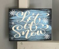 ❄️❄️ Winter Wood Sign LET IT SNOW Farmhouse Home Decor Seasonal Christmas Gift