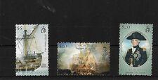 SOLOMON ISLANDS SG1159/61, 2005 BATTLE OF TRAFALGAR (2ND) MNH, CAT £10
