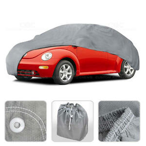 Car Cover for New Beetle Outdoor Breathable Sun Dust Proof Auto Protection