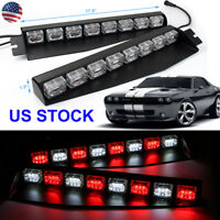 Emergency Warning Strobe Light Bar Cars Traffic Visor Dash Deck Flashing 48 LED