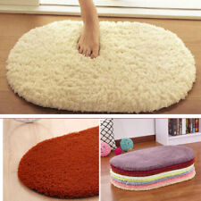 Non-slip Oval Carpet Bath Mat Bathroom Floor Shower Rug Doormat Pad Decorcati WA