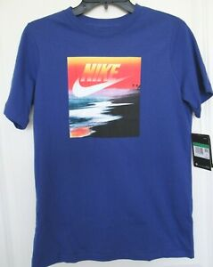 Nike Tee Boy's Graphic T-shirt Blue Size XL NWT
