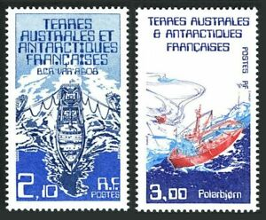 FSAT 123-124,MNH.Michel 212-213. Ships 1986. Var research, Polarbjorn support.