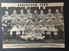 More details for leicester city fc signed picture 1952-1953 x 16 in blue pen
