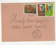 République de Côte-d'Ivoire 3 timbres sur lettre 1984 /L15