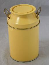 Il latte Urna Stile Vaso di Stoccaggio in metallo, con coperchio, in giallo. Nuovo di Zecca