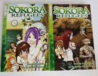 Sokora Refugees English Manga Book Lot 1-2 Graphic Tokyopop Segamu