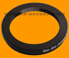 58mm to 46mm 58-46 Stepping Step Down Filter Ring Adapter 58-46mm 58mm-46mm (UK)