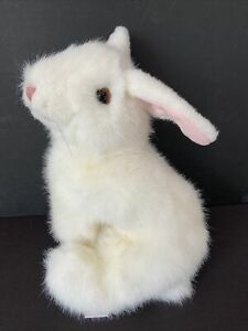 Vtg TY 1997 Classic Plush Toy White Bunny Rabbit Easter Stuffed Animal Realistic