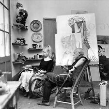 """Photographie,  """"Pablo Picasso et Sylvette David"""",  Vallauris, 1956   /  15 x 15"""