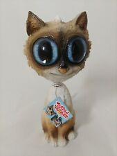 Twisted Whiskers Hallmark Bobble Head Cat Siamese