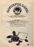 Grateful Dead Empire Pool, Wembley concert advert Time Out cutting 1972