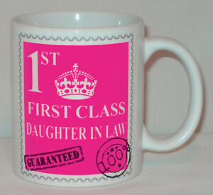 First Class Daughter In Law Mug Can Personalise Great Son Wife Love 1st Gift Cup