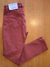 New Ann Taylor Loft Modern Skinny Jeans Stretch Red Sz 00P 24 Petite MSRP $69