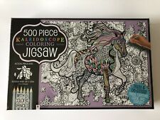 Kaleidoscope Through The Fields 500pc Coloring Jigsaw Puzzle New Sealed