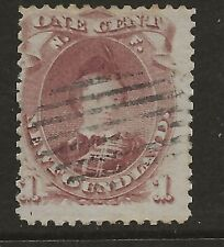 NEWFOUNDLAND  SG 35  1871  1c BROWN PURPLE DIE II   FINE USED
