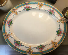 Early Royal Worcester Hand Painted Floral Dinner Platter