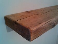 6 X 70cm Reclaimed Style Chunky Floating Shelves Wall Dark Oak Rustic Wooden