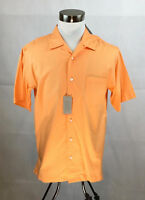 Daniel Cremieux Shirt Mens Medium NWT Pale Orange Button Up Short Sleeve
