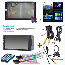 7inch Touch Screen Car Audio Stereo MP5 Player USB FM Bluetooth+Rear View Camera