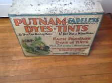 Antique Putman Dyes & Tint Cabinet  Store Display Table Top Cabinet 19x14.5x7.5""