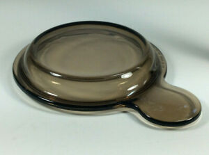 """Corning ware Visions Amber Grab it/its V-150-B casserole bowl """"glass lid only"""""""