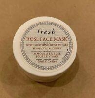 Fresh Rose Face Mask Hydrates & Tones 0.6 oz/ 20 ml Travel size