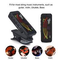 FMT-209 LCD Stimmgerät/Clip Tuner mit Batterie Für Gitarre Bass Geige Ukulele ✪