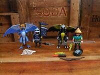 Playmobil 5464 Ice Dragon and 5465 Lightning Dragon Bundle