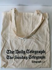 The Daily Telegraph UK 100% COTTON REUSEABLE ECO CANVAS TOTE SHOPPING BAG F1