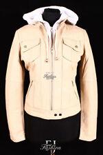 Cappotti e giacche da donna in pelle beige, taglia 44