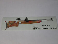 Feinwerkbau P75 Biathlon rifle sticker