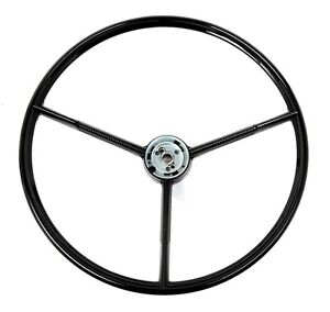 New! 1960 - 1963 Ford Falcon Black Steering Wheel Original Style 1961-1970 Truck