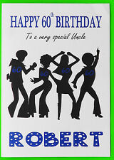 Personalised 60th Birthday Card (Disco) garçon mâle ami FILS COUSIN petit-fils 60