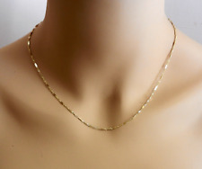 """Real 10k Yellow Gold Fancy Style Chain Necklace 18.25"""" long"""