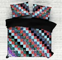 Indian Patchwork Mandala Doona Duvet Cover Quilt Boho Handmade Blanket Cover Set