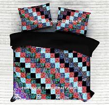 Indian Patchwork Mandala Doona Duvet Cover Quilt Boho Handmade Blanket Cover Set