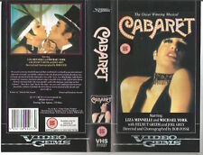 "VHS""CABARET""ORIGINAL AUDIO BOB FOSSE,STARRING LIZA MINNELLI,MICHAEL YORK 1971"