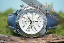 Breitling Armbanduhren im Luxus-Stil mit Armband aus echtem Leder