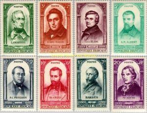 EBS France 1948 - Centenary of the Revolution of 1848 - YT 795-802 MNH** cv $37