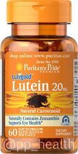 Puritan's Pride Lutigold Lutein 20 mg 60 softgels Support Eye Health USA  K