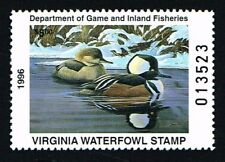 CKSTAMPS : 1996 US Virginia State Ducks Hunting Stamps $5.00, Mint NH OG VF