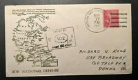 1941 For National Defense US APO 804 First Day Penna PA WWII Patriotic Cover