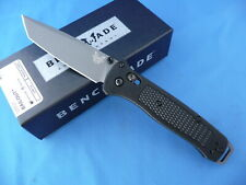 Benchmade 537GY Bailout Axis Knife Gray CPM-3V Plain Edge Tanto Black Grivory