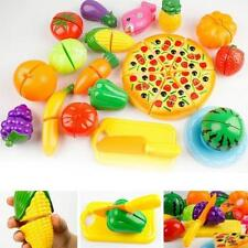 24PCS Preschool Toy Kitchen Food Pretend Play Cutting Fruit Vegetable Set LG