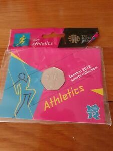 2011 Olympic Athletics Brilliant Uncirculated 50p Coin BUNC