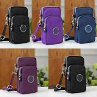 Mens Cross-body Mobile Phone Shoulder Bag Pouch Case Belt Handbag Purse Wallet