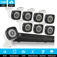 8CH NVR In/Outdoor Waterproof IR-CUT POE 8Pcs 720P Camera Security Video System