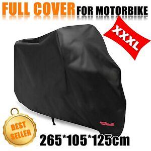 XXXL Motorcycle Cover Motorbike Cruiser Scooter Motor Bike Waterproof Storage